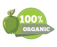 Naturalne organicznie owoc logo, etykietka, odznaka szablon Obrazy Stock