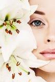 naturalne piękno piękna twarz kobiety Obrazy Royalty Free