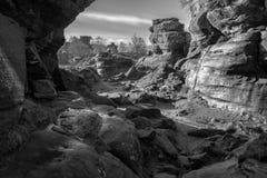 Naturalne Piaskowcowe Rockowe formacje fotografia stock