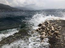 naturalne tekstury grafiki projektu fale morskie Obraz Royalty Free