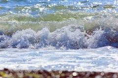naturalne tekstury grafiki projektu fale morskie Tylny morze, Crimea Zdjęcia Royalty Free
