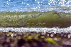 naturalne tekstury grafiki projektu fale morskie Tylny morze, Crimea Fotografia Stock