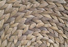 Naturalnego koloru słomy maty round tekstura Zdjęcia Stock
