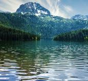 naturalnego krajobrazu Halny jezioro, Montenegro, Durmitor obywatel Fotografia Stock
