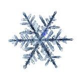 Naturalnego krystalicznego płatka śniegu makro- kawałek lód Fotografia Royalty Free