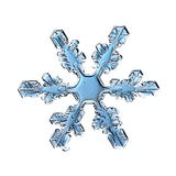Naturalnego krystalicznego płatka śniegu makro- kawałek lód Obrazy Royalty Free