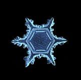 Naturalnego krystalicznego płatka śniegu makro- kawałek lód Zdjęcia Royalty Free