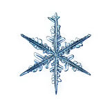 Naturalnego krystalicznego płatka śniegu makro- kawałek lód Fotografia Stock