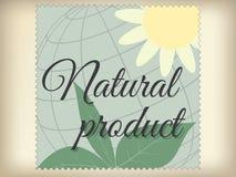 Naturalnego produktu etykietka. Fotografia Stock