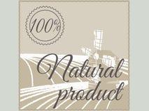 Naturalnego produktu etykietka. Zdjęcie Royalty Free