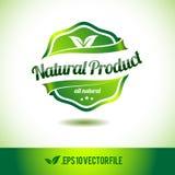 Naturalnego produktu odznaki etykietki foka Zdjęcia Royalty Free