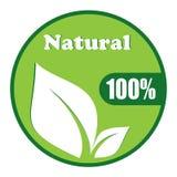 Naturalnego symbolu wektorowy projekt Zdjęcia Stock