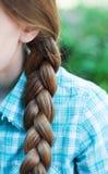 Naturalnej blondynki galonowy włosy fotografia stock