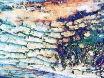 Naturalnej drzewnej barkentyny tekstury cyfrowa ilustracja Zatarta błękitna drzewna barkentyna Wietrzejący nawierzchniowy stary d obraz stock