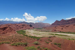 Naturalnej rezerwy Quebrada De Las Conchas en Argentyna obrazy royalty free