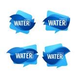 Naturalnej wiosny woda, wektorowy logo, etykietki i majcheru szablon, Obraz Stock