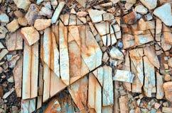 Naturalni abstraktów wzory, tekstury w łamającej skale i Obraz Stock