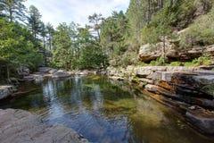 Naturalni baseny Aitone w i - zdjęcie royalty free