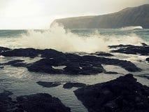 Naturalni baseny, mosteiros, Azores Obrazy Royalty Free