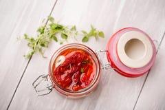 Naturalni diy domowi wysuszeni pomidory Zdjęcie Stock