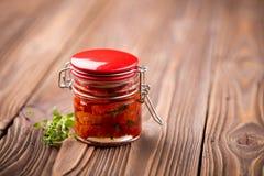 Naturalni diy domowi wysuszeni pomidory Obraz Royalty Free