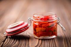 Naturalni diy domowi wysuszeni pomidory Zdjęcia Royalty Free