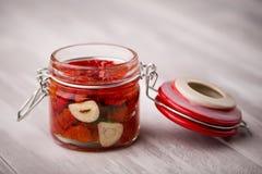 Naturalni diy domowi wysuszeni pomidory Zdjęcie Royalty Free