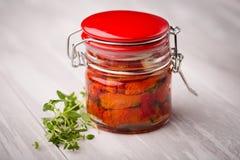 Naturalni diy domowi wysuszeni pomidory Zdjęcia Stock