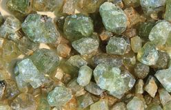 Naturalni fluoryt kamienie Zdjęcia Royalty Free