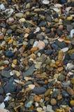 Naturalni kamienie bardzo piękny strzał na plaży w Primorsky Krai Obrazy Stock