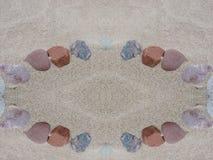 Naturalni kamienie na piasku Zdjęcia Stock