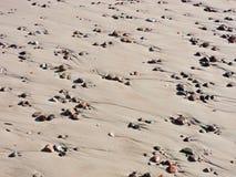 Naturalni kamienie na piasku Fotografia Stock