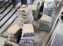 Naturalni kamienni panel Zdjęcia Stock