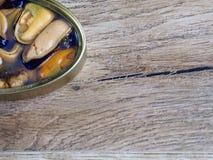 Naturalni mussels konserwować Zdjęcie Stock