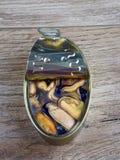 Naturalni mussels konserwować Obrazy Stock