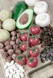 Naturalni produkty bogaci w potasie K pojęcia zdrowe jedzenie Obraz Royalty Free