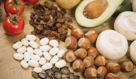 Naturalni produkty bogaci w potasie K pojęcia zdrowe jedzenie Zdjęcie Royalty Free