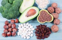 Naturalni produkty bogaci w witaminy B6 Pyridoxine pojęcia zdrowe jedzenie Obrazy Stock
