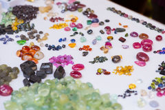 Naturalni semiprecious kamienie i inne kopaliny Obrazy Royalty Free