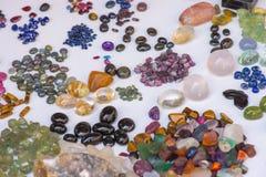 Naturalni semiprecious kamienie i inne kopaliny Fotografia Royalty Free