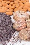 Naturalni składniki jako wapnie, witaminy, kopaliny i włókno źródła, obrazy royalty free