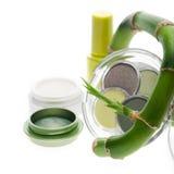 Naturalni ziołowi kosmetyki i makijaż Zdjęcie Stock