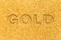Naturalnie Minujący Placer złoto fotografia stock