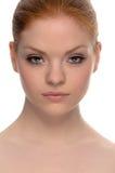 Piękno rudzielec fotografia royalty free