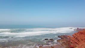 Naturalny łuk na Legzira plaży, Atlantyk wybrzeże w Maroko, Afryka, 4k zbiory wideo