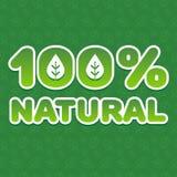 100 naturalny Fotografia Royalty Free