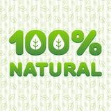 100 naturalny Obrazy Stock