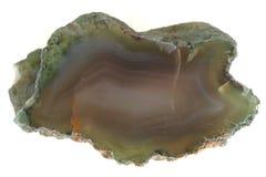 naturalny agat odizolowywający Zdjęcia Stock