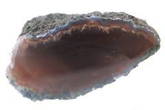 naturalny agat odizolowywający Fotografia Stock