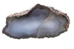 naturalny agat odizolowywający Obraz Stock